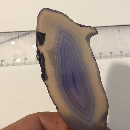 Agate Slice , light purple