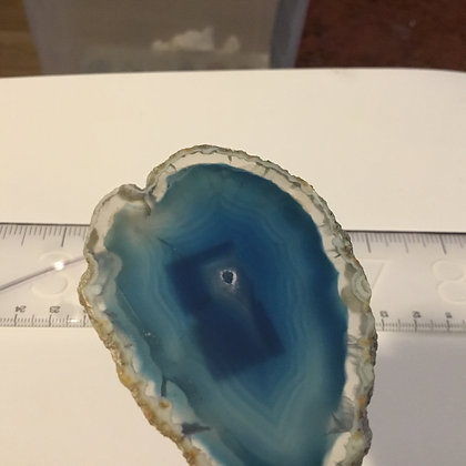 Agate Slice blue