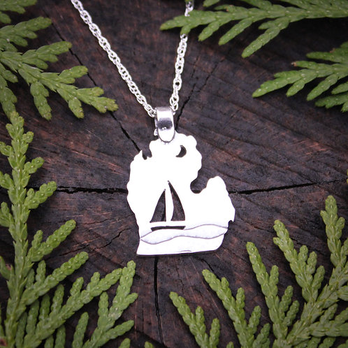 Michigan sailboat pendant