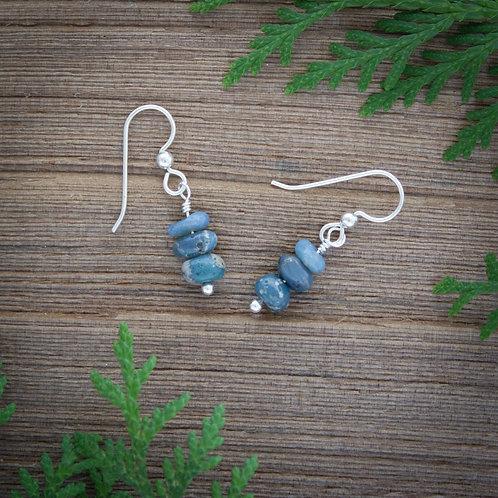 Leland Blue bead earrings
