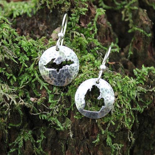 Upper and Lower Peninsula earrings