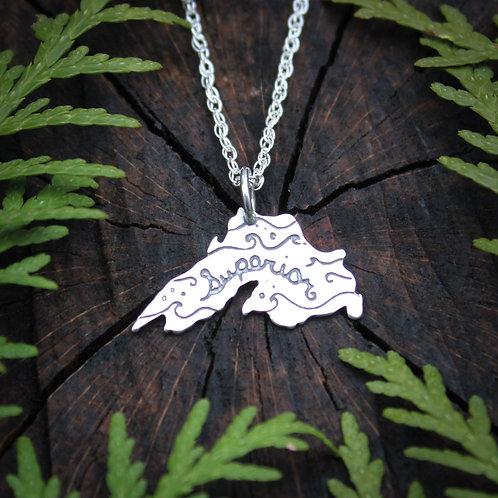 Lake Superior sterling silver pendant