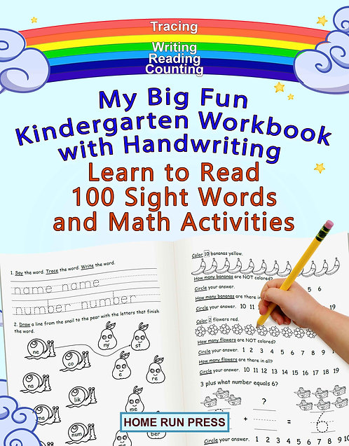 My Big Fun Kindergarten Workbook with Handwriting Learn to Read 100 Sight Words