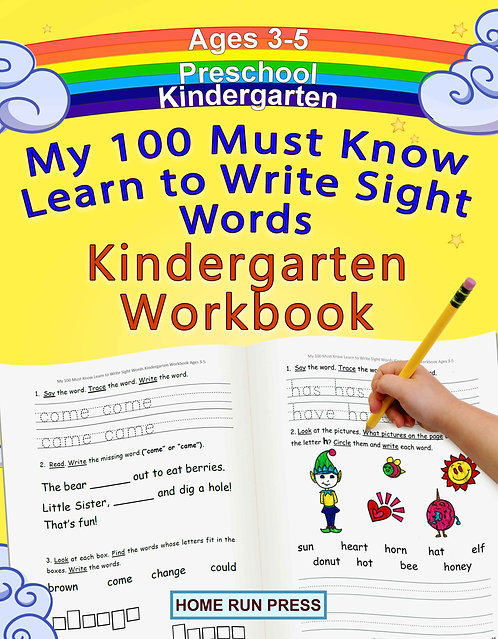 My 100 Must Know Learn to Write Sight Words Kindergarten Workbook Ages 3-5 helps kids of all ages