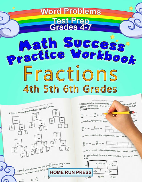 math workbook, Math Success Practice Workbook Fractions helps to start learning fractions