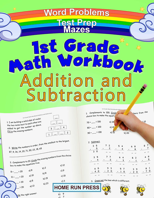 1st Grade Math Workbook Addition and Subtraction: Grade 1 Workbooks, Math Books for 1st Graders, Ages 4-8, 1st grade workbook