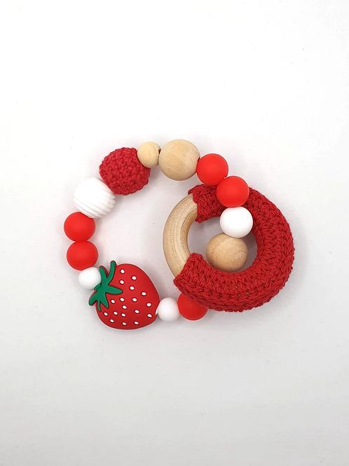 Greifling / Beissring Erdbeere aus gemischtem Material