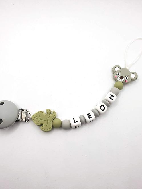 Personalisierte Nuggikette Koala aus Silikon
