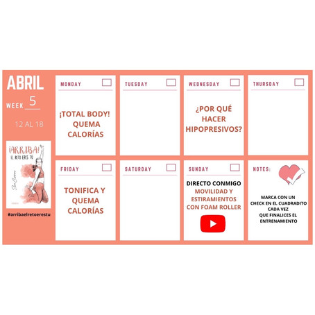 Semana 5 #ArribaElRetoEresTu