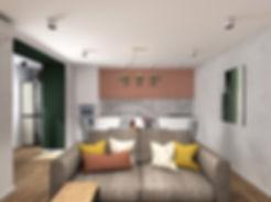 дизай интерьера квартиры, современый стиль, дизайн гостной, дизайн студия самара