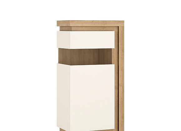 Narrow display cabinet (LHD) 123.6cm high (including LED lighting)