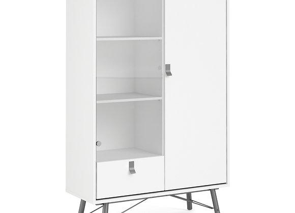 China cabinet 1 door + 1 glass door + 1 drawer