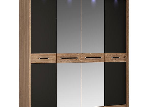 4 door wardrobe with mirror doors