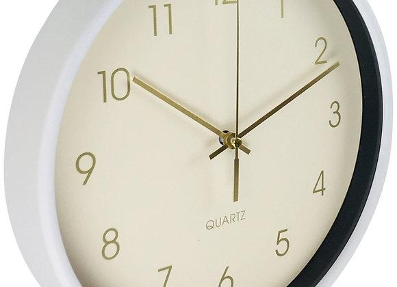 Round Wall Clock In White 25cm