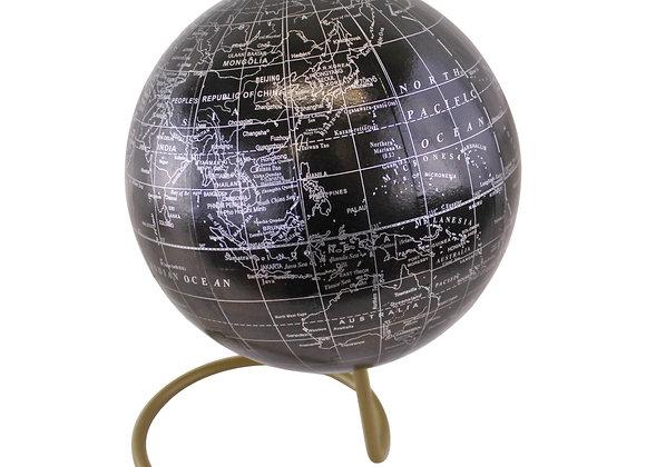 Decorative Freestanding Globe in Black