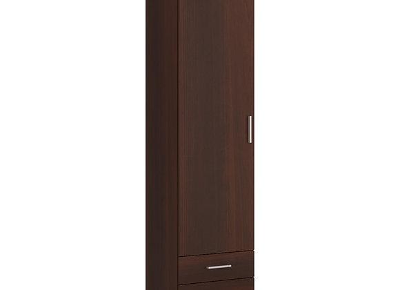 Tall 1 Door 2 Drawer Narrow Cabinet