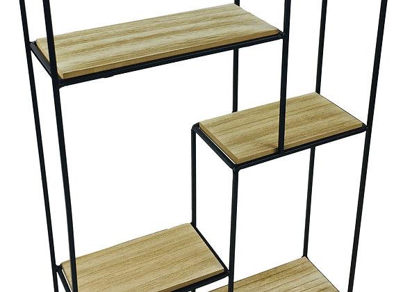 Wood & Wire Multi Shelf Display Unit