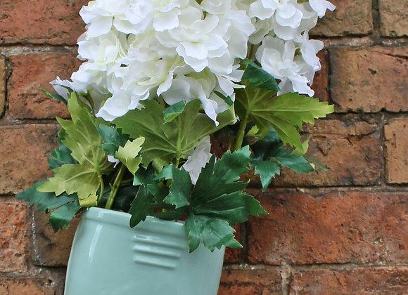 Ceramic Wellington Boot Planter Green 36cm