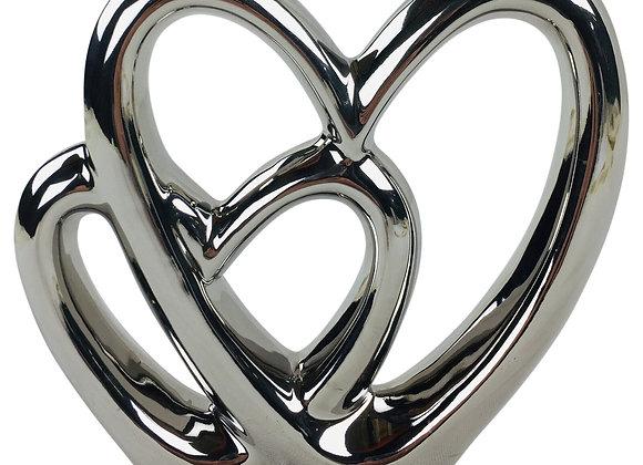 Double Heart Ornament 21cm