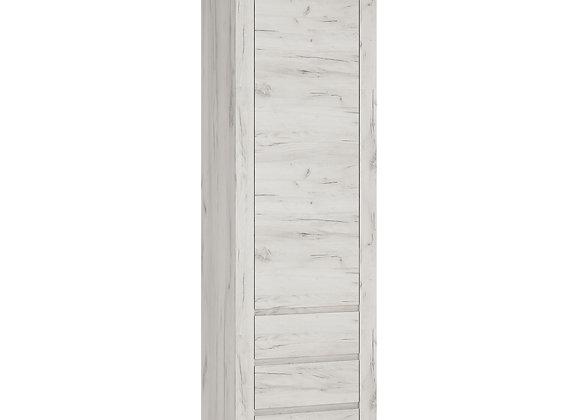 Tall Narrow One Door 3 Drawer Narrow Cupboard