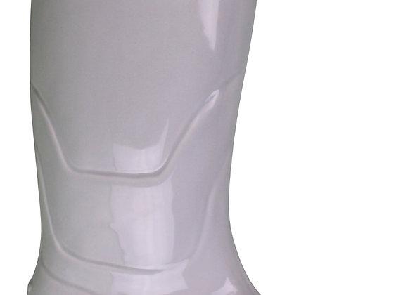 Ceramic Wellington Boot Planter White 36cm