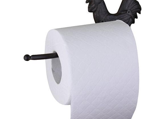 Cast Iron Rustic Toilet Roll Holder, Chicken