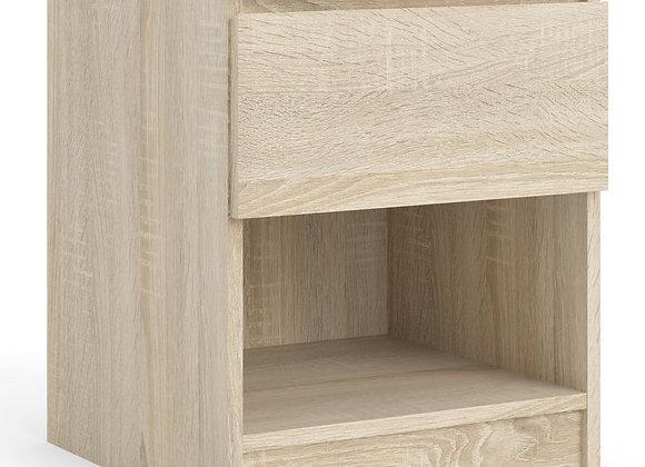 Naia Bedside - 1 Drawer 1 Shelf in Oak structure