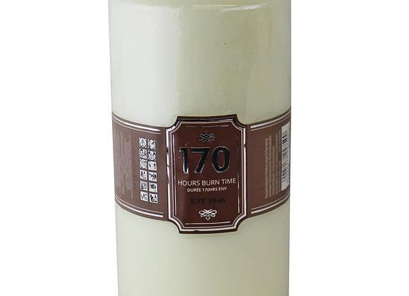 Cream Pillar Candle, 170hr Burn Time