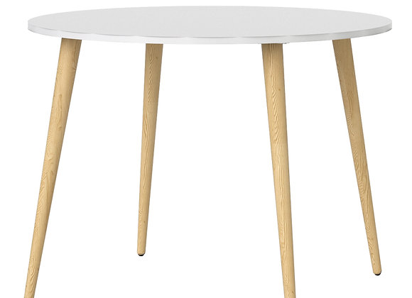 Dining Table - Small (100cm) in White and Oak