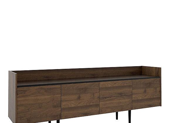 Sideboard 2 Drawers 3 Doors in Walnut and Black