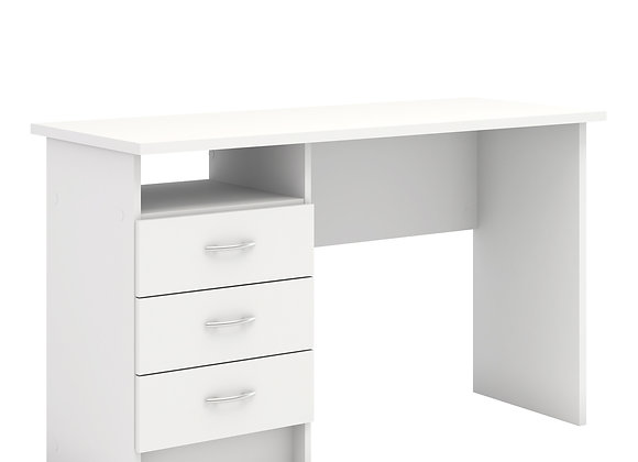 Desk 3 Drawers in White