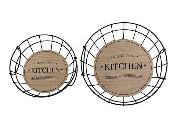 Set Of 2 Wire Kitchen Baskets