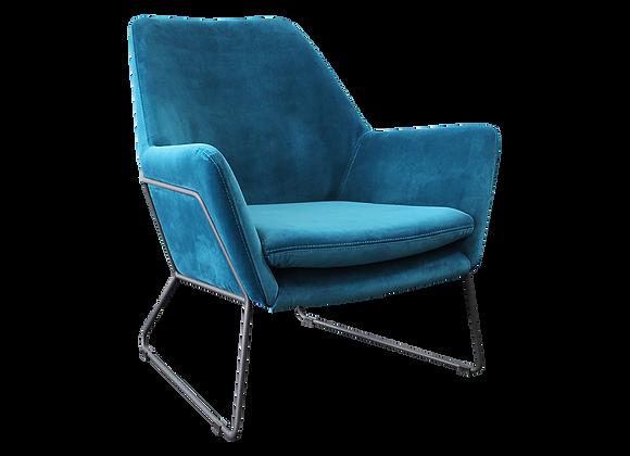 Delilah Armchair - Blue Velvet