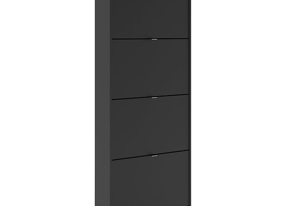 Shoe cabinet  w. 4 tilting doors and 1 layer