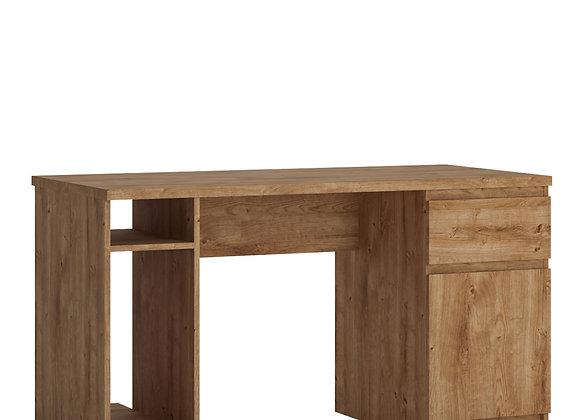 Fribo 1 door 1 drawer twin pedestal desk in Oak