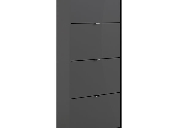 Shoe cabinet  w. 4 tilting doors and 2 layers