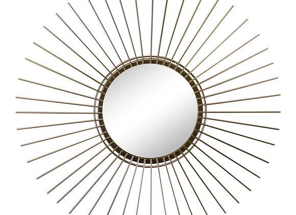 Gold Wire Sunburst Accent Mirror