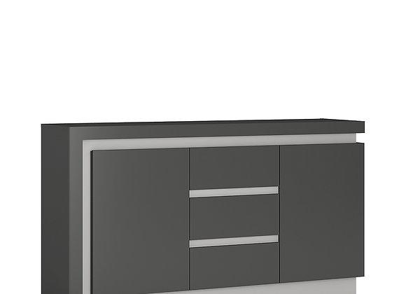 2 door 3 drawer sideboard (including LED lighting)