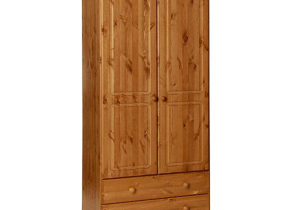 2 Door 2 Drawer Robe Pine