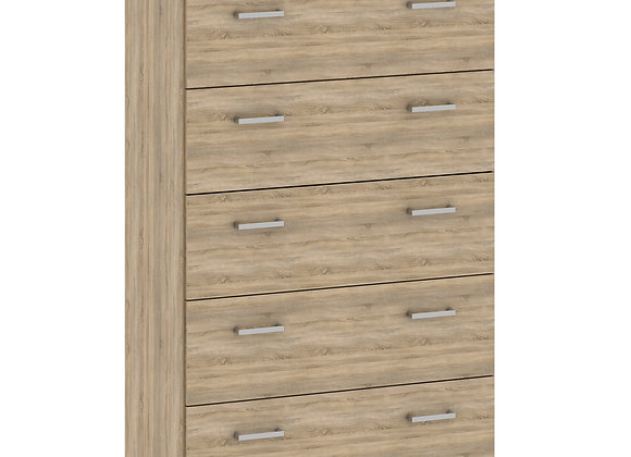 Chest of 5 Drawers in Oak