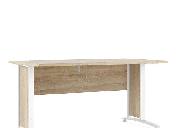 Prima Desk 150 cm in Oak with White legs