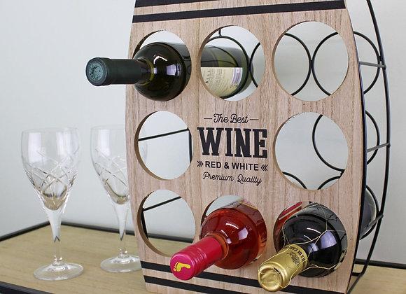 Eight Bottle Wine Rack, Barrel design