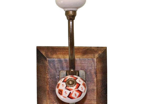 Double Kasbah Design Hook On Wooden Base