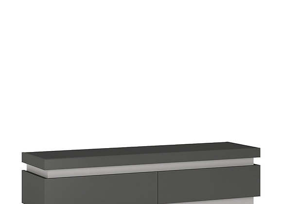 2 drawer TV cabinet (including LED lighting)