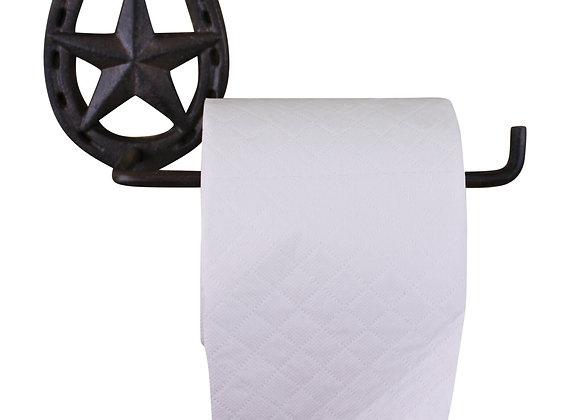Cast Iron Rustic Toilet Roll Holder, Horseshoe