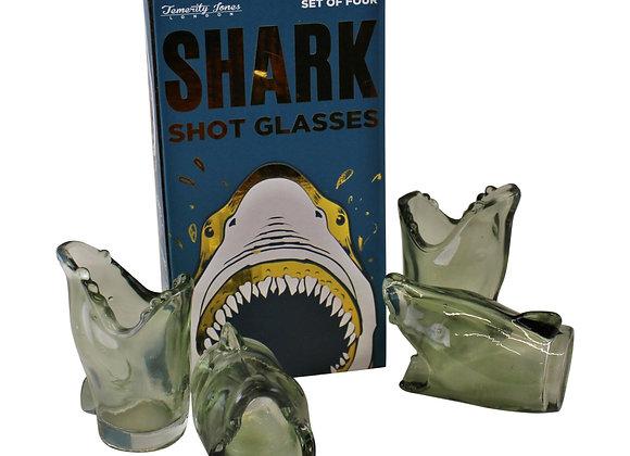Set of 4 Shark Design Shot Glasses