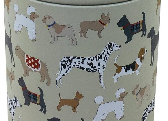 Dog Print Storage Tin 22cm