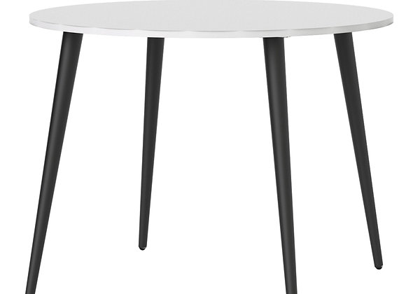 Dining Table - Small (100cm) in White and Black Matt