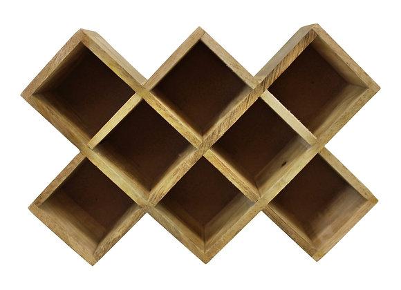 Freestanding Wooden Spice Rack, holds 8 bottles
