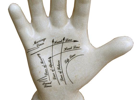 Ceramic Palmistry Hand, 24cm